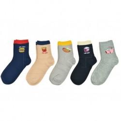 Dámske ponožky s jedlom - mix motívov - 5 párov