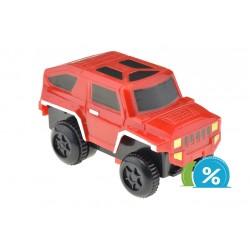 Nové autíčko k svietiacej autodráhe - šírka 6 cm - červené