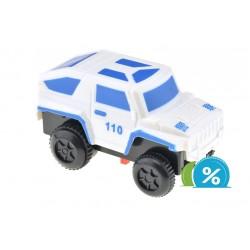 Nové autíčko k svietiacej autodráhe - šírka 6 cm - biele