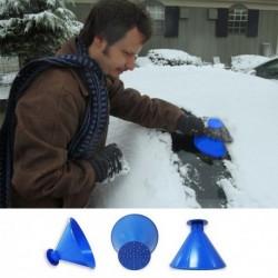 Multifunkčná škrabka na zamrznuté okná + lievik na dolievanie tekutín - modrá