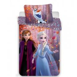 Bavlnené obliečky Ľadové Kráľovstvo 2 - sestry - ružové - 140 x 200 cm