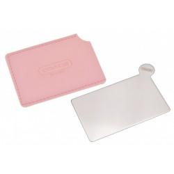 Vreckové mini zrkadielko s veľkosťou platobnej karty - 8,5 x 5,3 cm
