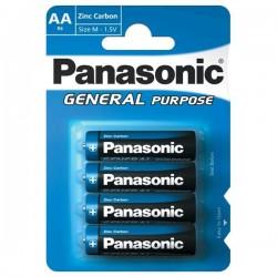 Panasonic - General Purpose R6BE/4BP - 4x AA baterie,1,5V - balení blistr