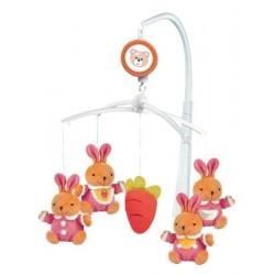Kolotoč nad postieľku - zajačiky - Baby Mix
