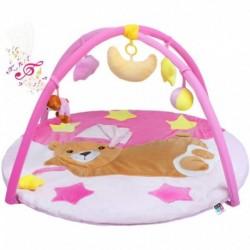 Hracia deka s melódiou - spiaci medvedík - ružová - PlayTo