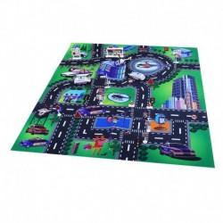 Hrací koberec - polícia s kovovými autami - Rappa