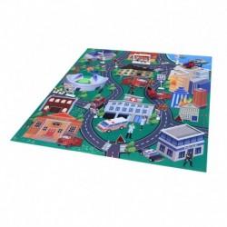 Hrací koberec - hasiči s kovovými autami - Rappa