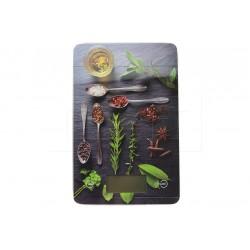Sklenená kuchynská digitálna váha do 5 kg - 22 x 16 cm - korenie, mix motívov - EH
