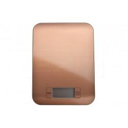 Antikorová kuchynská digitálna váha do 5 kg - 22 x 16 cm - medená farba - EH