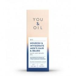 Posilňujúci pánsky olej na vlasy a fúzy - 50 ml - YOU & OIL