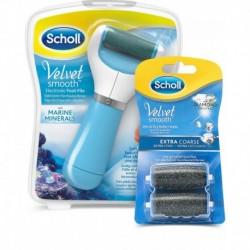 Elektrický pilník na chodidlá Velvet Smooth + 2 náhradné hlavice - Scholl