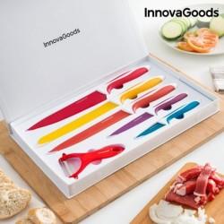 Súprava keramických nožov so škrabkou - InnovaGoods