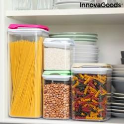 Súprava stohovateľných hermeticky uzavretých kuchynských nádob Pilocks - 4 ks - InnovaGoods