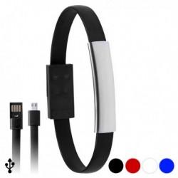 Náramok s napájacím micro USB káblom - modrý