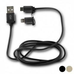 Napájací micro USB kábel s Lightning adaptérom - KSIX