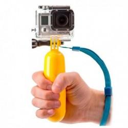 Plávajúca selfie tyč na športovú kameru - žltá