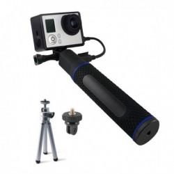 Selfie tyč s powerbankou na športovú kameru - 5200 mAh - čierna