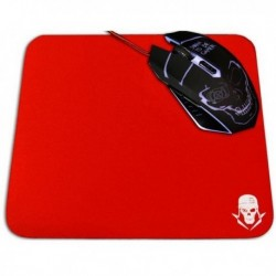 Podložka pod hernú myš GMPR - červená - 40 x 25 cm - Skullkiller