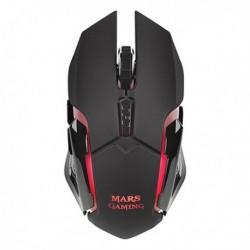 Herná myš s LED MMW - 3200 DPI - čierna - Mars Gaming