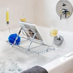 Kovový kúpeľňový stojan na kozmetiku