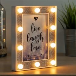 LED rámček na fotografiu s flitrami