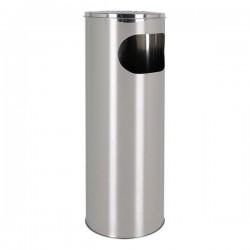 Odpadkový kôš s popolníkom Confortime - kovový - 20 x 59 cm