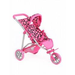 Športový kočík pre bábiky Olívia - ružový - Playtech