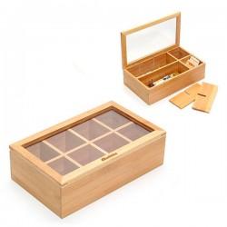 Bambusová krabica na čaj - Quttin