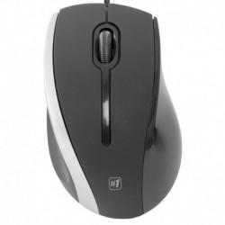 Drôtová myš MM-340 - čiernosivá - Defender