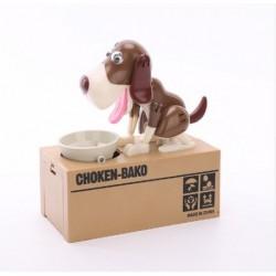 Pokladnička - hladný psík - hnedo-biely