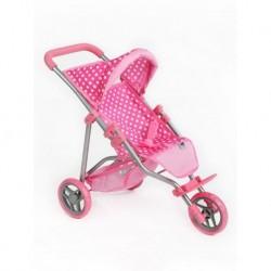 Športový kočík pre bábiky Olívia - svetloružový - Playtech