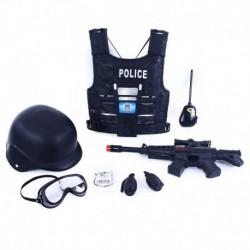 Detská policajná vesta s príslušenstvom - Rappa