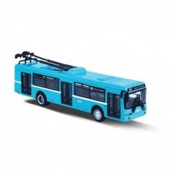 Kovový trolejbus - DPO Ostrava - modrý - 16 cm - Rappa