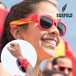 Skladacie slnečné okuliare - Mondial - Španielsko - červené - Sunfold