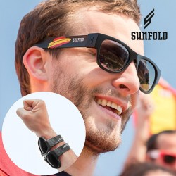 Skladacie slnečné okuliare - Mondial - Španielsko - čierne - Sunfold