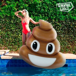 Nafukovacie ležadlo - Poo emoji - Adventure Goods