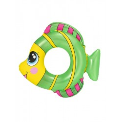 Detský nafukovací kruh - rybka - zelený - Bestway
