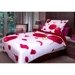 Obliečky z mikrovlákna - 3D červená ruža - 140 x 200 - Aaryans