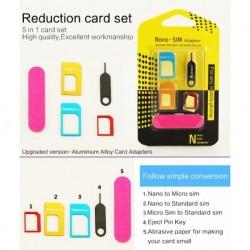 Súprava redukcií na SIM kartu - 5 ks