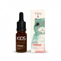 Zmes éterických olejov proti bolesti v krku - pre deti - BIO - 10 ml - YOU & OIL