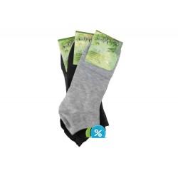 Pánske členkové bambusové ponožky NM30101B - 3 páry - NaiGe