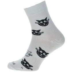 Unisex ponožky - Biele mačky - WiTSocks