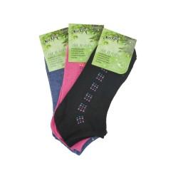 Dámske bambusové členkové ponožky NW10108 - 3 páry - Naige