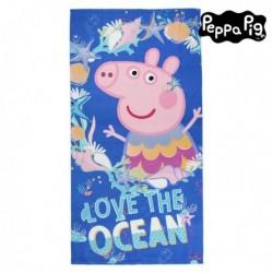 Plážová deka z mikrovlákna - Prasiatko Peppa - modrá