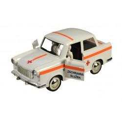 Retro autíčko Trabant 601 na zotrvačník - záchranná služba - 18 cm