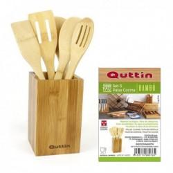 Súprava bambusového kuchynského náčinia - 5 ks - Quttin