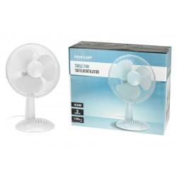 Stolný ventilátor - 30 cm - 45 W - biely - Excellent Electrics