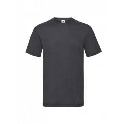 Pánske bavlnené tričko - tmavosivé - žíhané - Fruit of the Loom