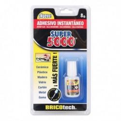 Sekundové lepidlo Super 5000 + štetec - 8 g - Bricotech