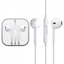 Slúchadlá s mikrofónom a ovládacím panelom - biele